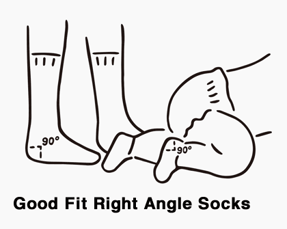 Good Fit Right Angle Socks