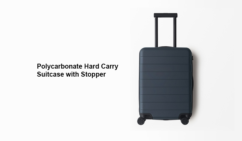 Polycarbonate Hard Carry Suitcase With Stopper Muji