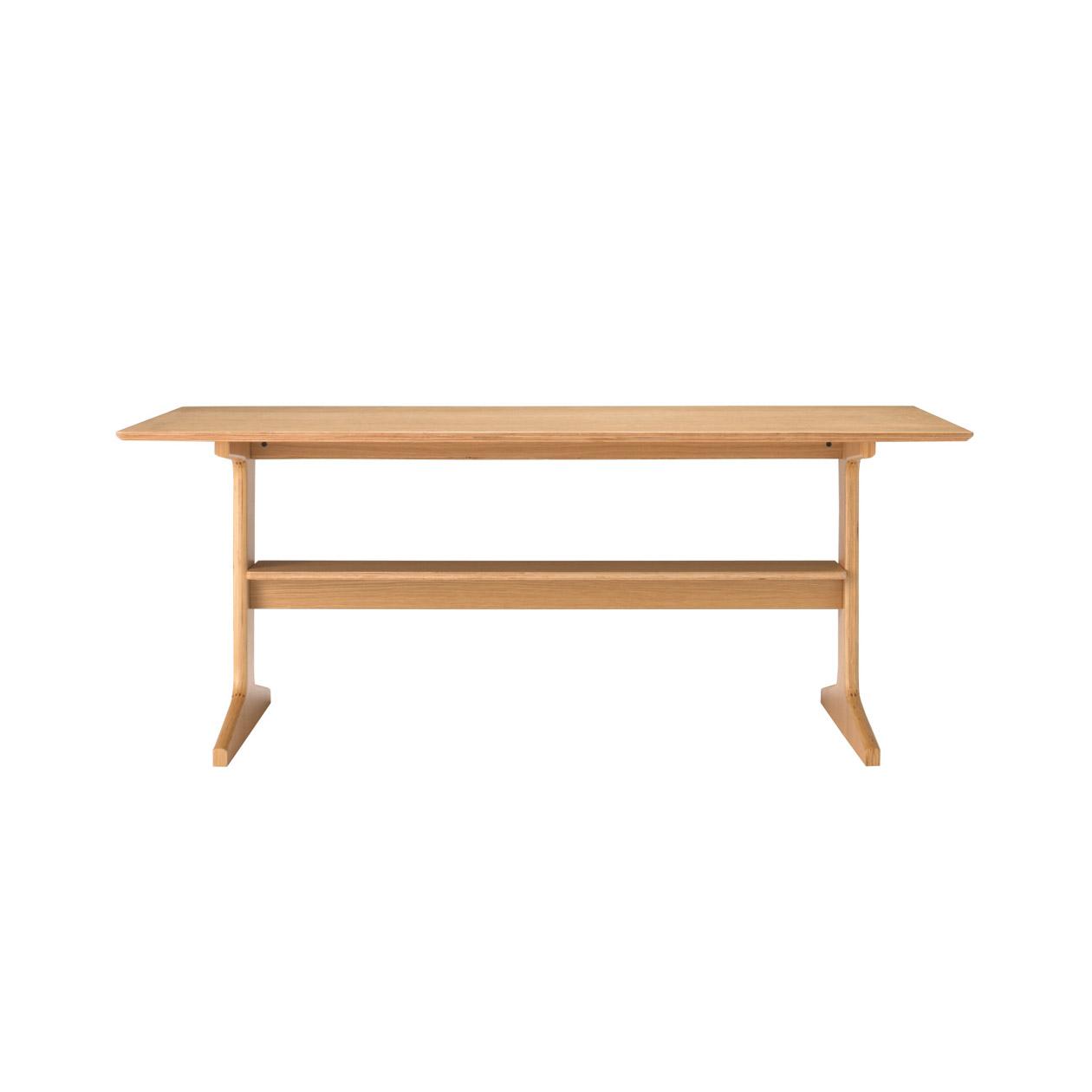 Oak Wood Living Dining Table L