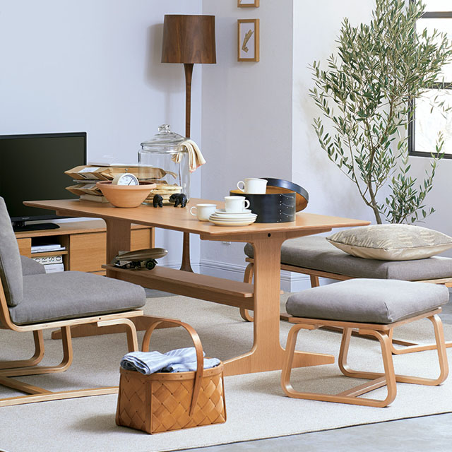 Oak Wood Living Dining Furniture Muji