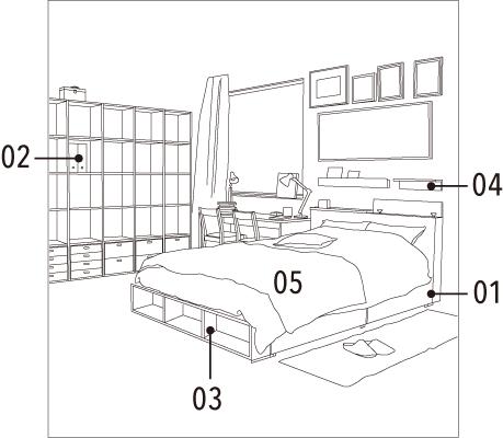 Schlafzimmer Compact Life Muji