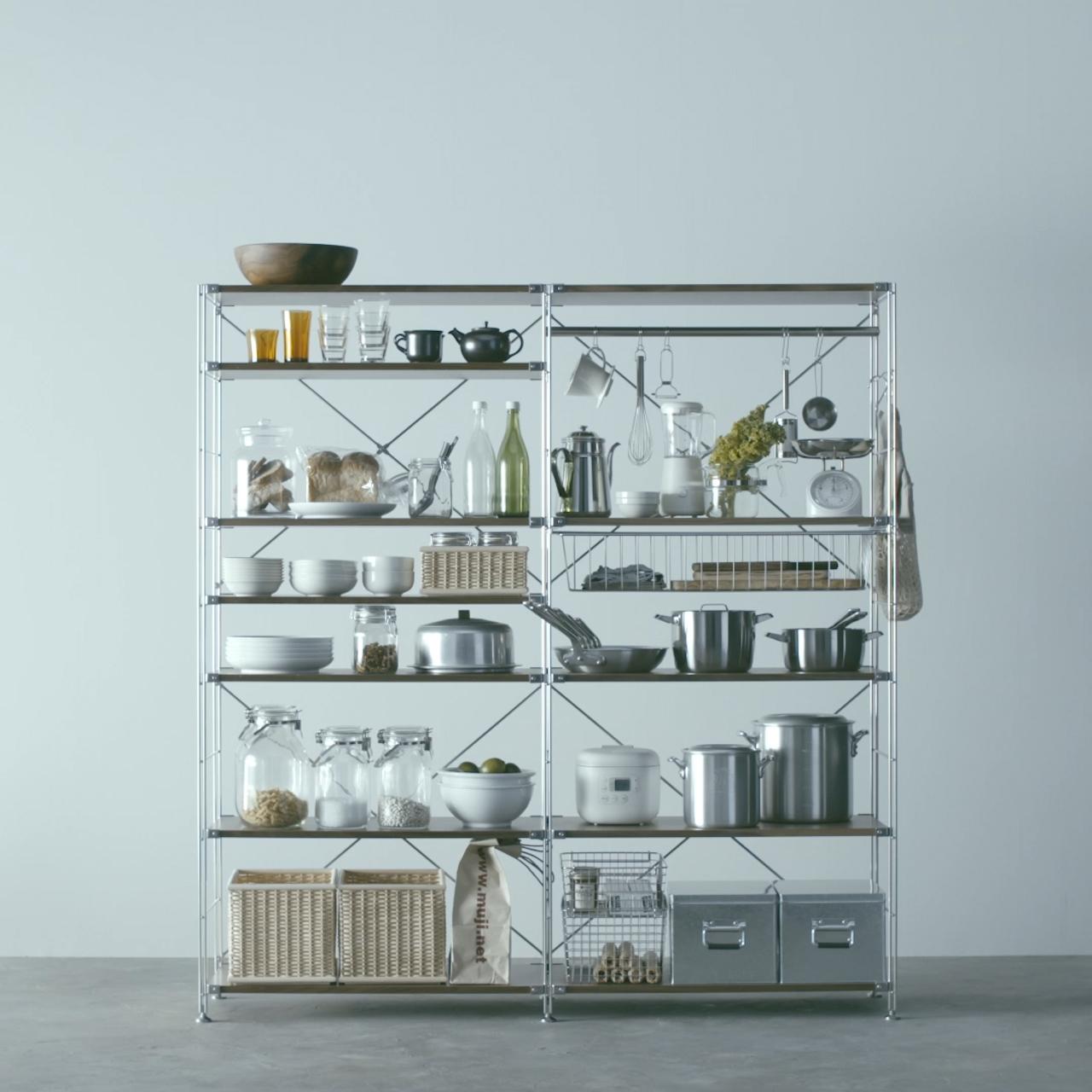 Use In The Kitchen Unit Shelf Compact Life Muji