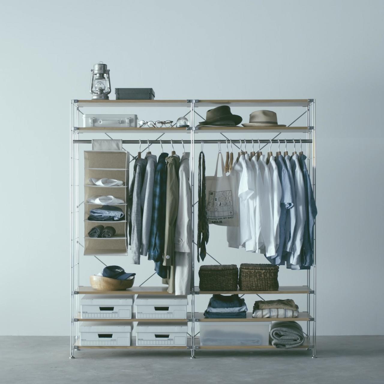 ワードローブとして使う - Unit Shelf | Compact Life | 無印良品