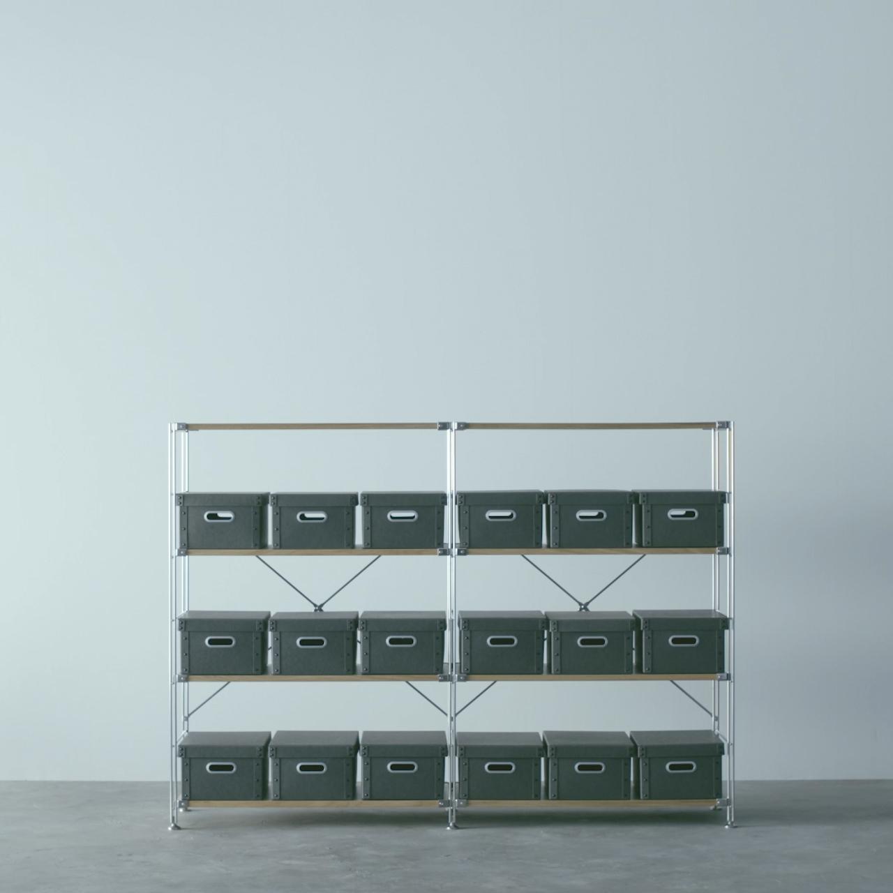 収納用品と合わせるUnit Shelf
