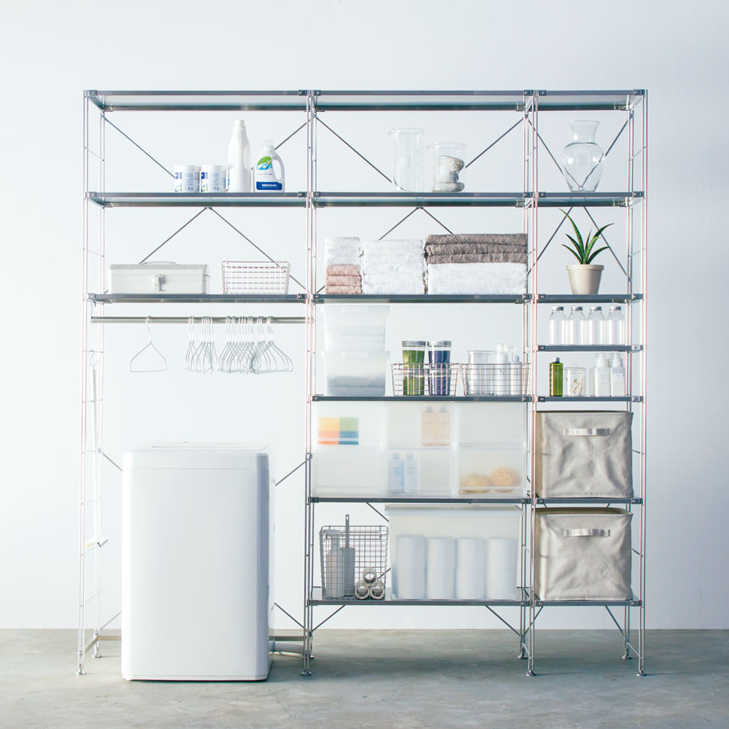 Use for bath/laundry goods - Unit Shelf | Compact Life | MUJI