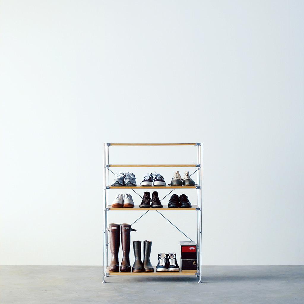 shoe rack with top shelf
