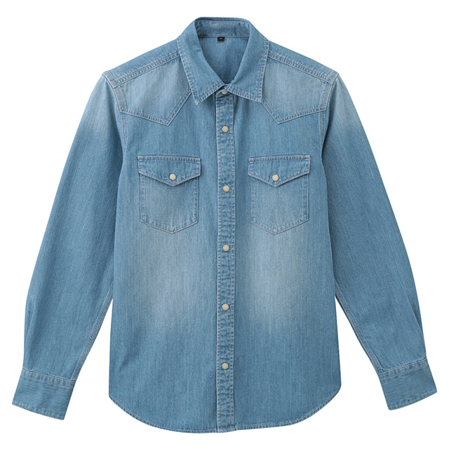 92a15ac1a Men Organic Cotton Denim Western Shirt