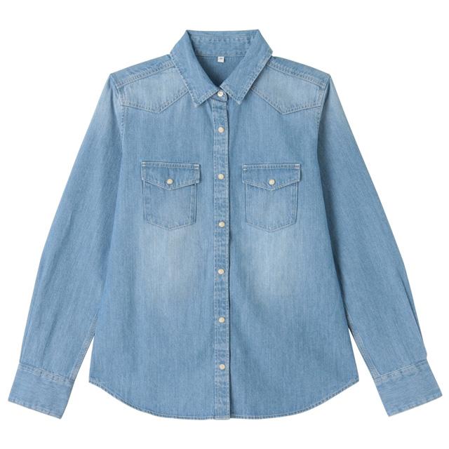 71678a4dec  49.95  Women Denim Long Sleeve Shirt