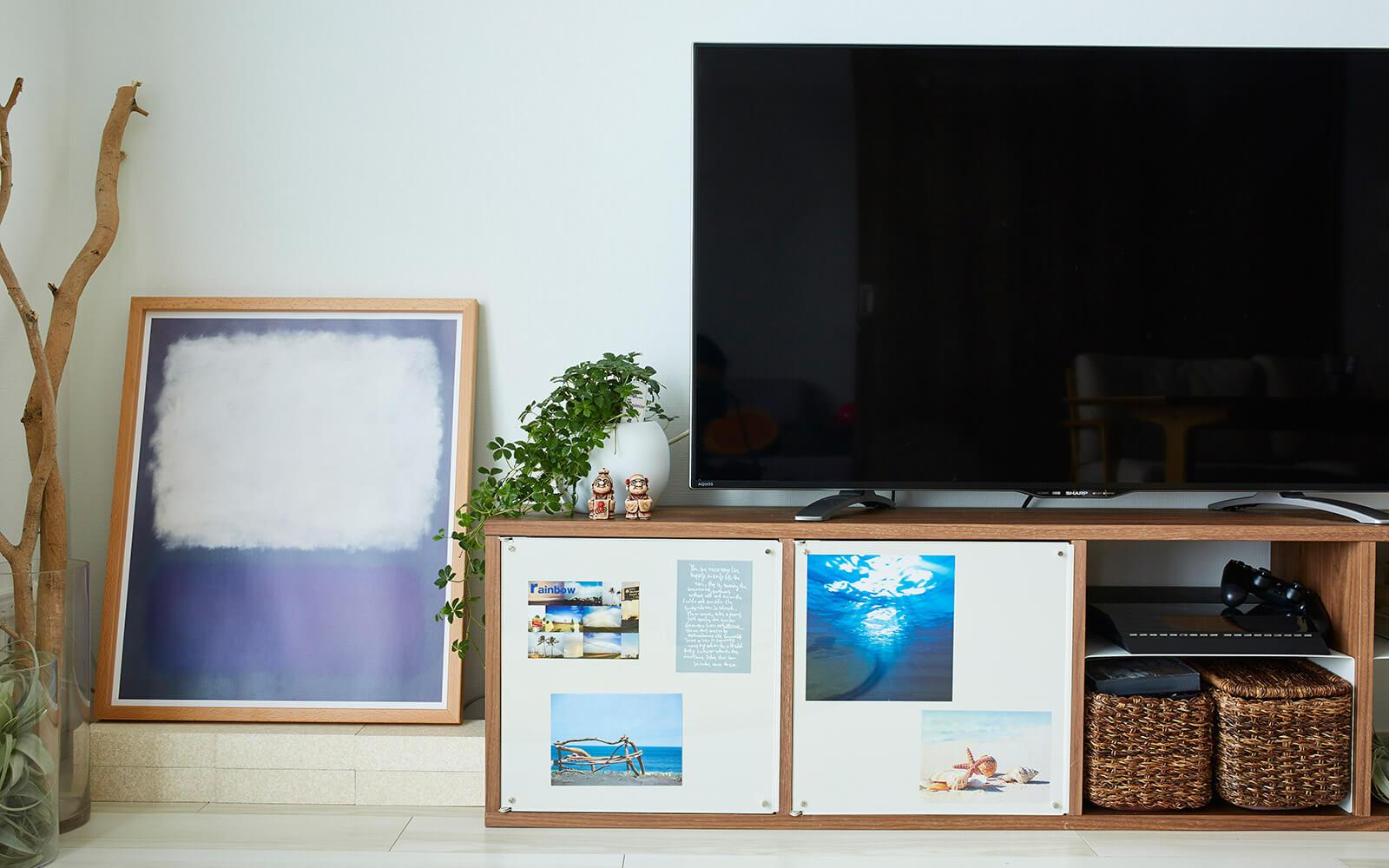 テレビ台としても最適なサイズ感