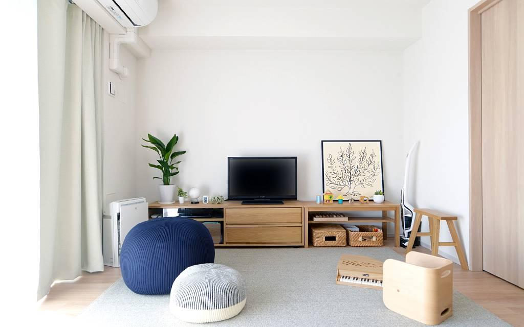 「無印良品の家具は10年以上使っても丈夫で飽きない」と、普段から無印良品の商品をご愛用いただいているお客さま。