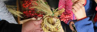お米づくりが繋げる里山の手仕事 しめ縄飾りづくり