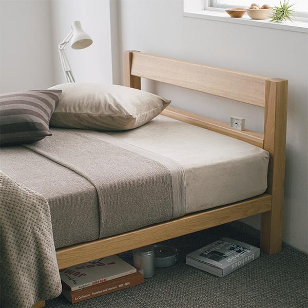 オーク材ベッド