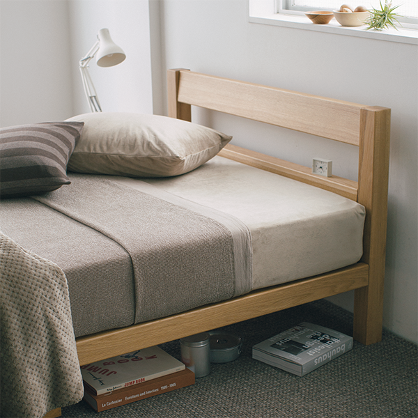 gachara 様専用 マニフレックス エアメッシュマットレス&無印タモ材ベッド