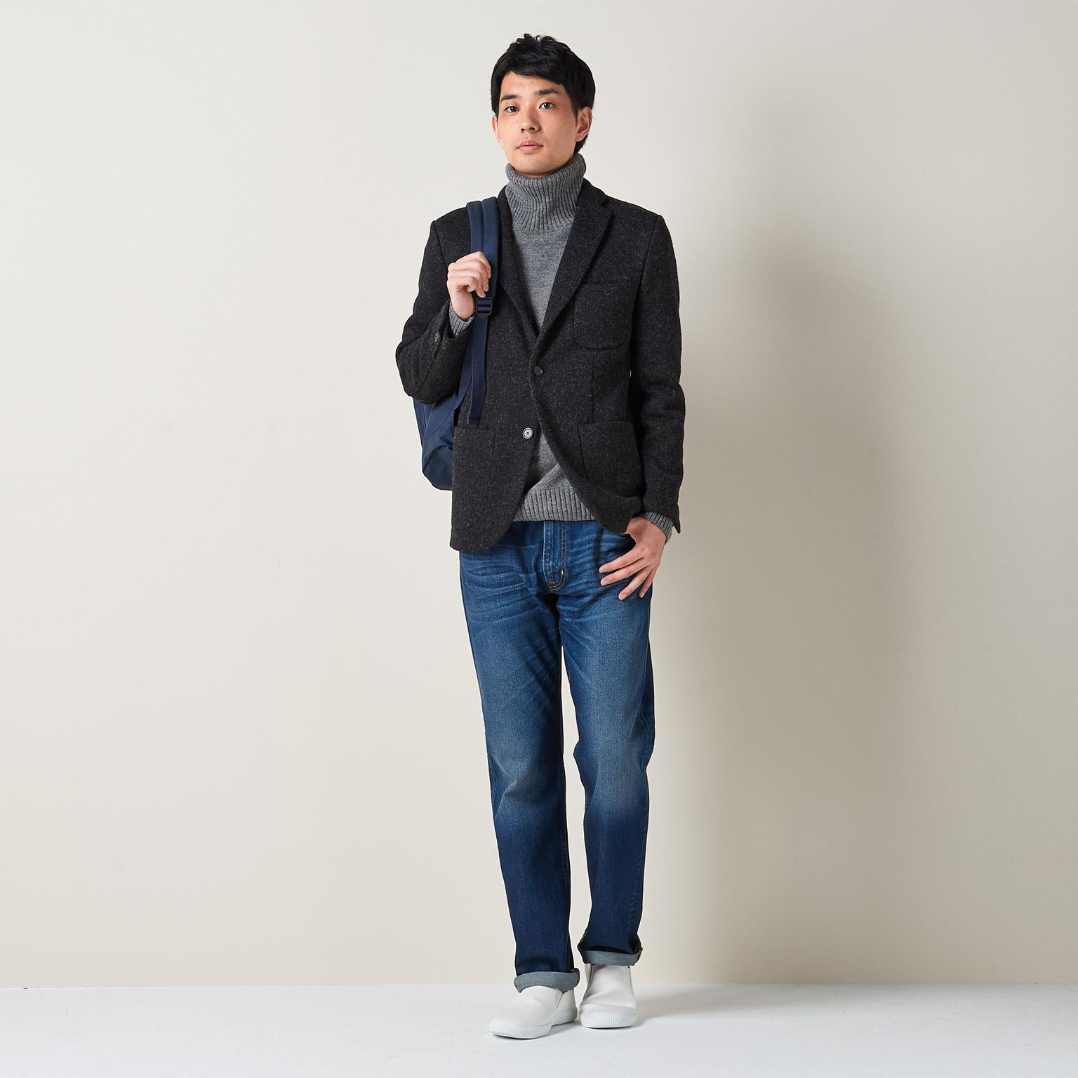 無印良品 良品計画 スニーカー キャンバス 靴 シューズ ローカット ネイビー 24.5cm メンズ/☆B06 メンズ