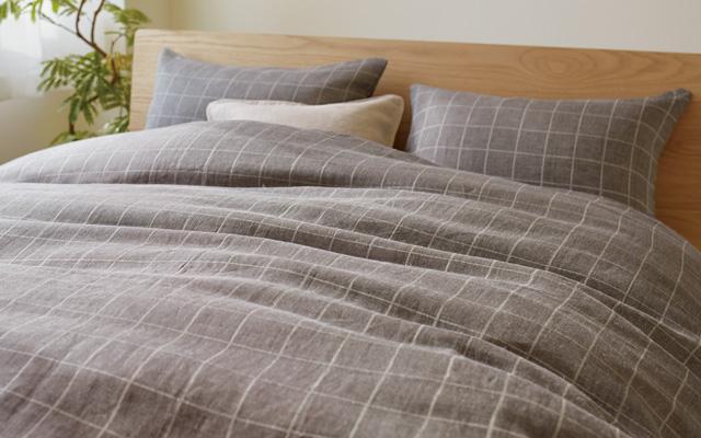 麻綾織の寝具カバー