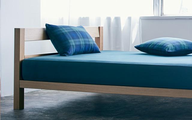 100%綿無印良品スタイルベッドカバーセット4ピーススーパーソフトジャージニット寝具