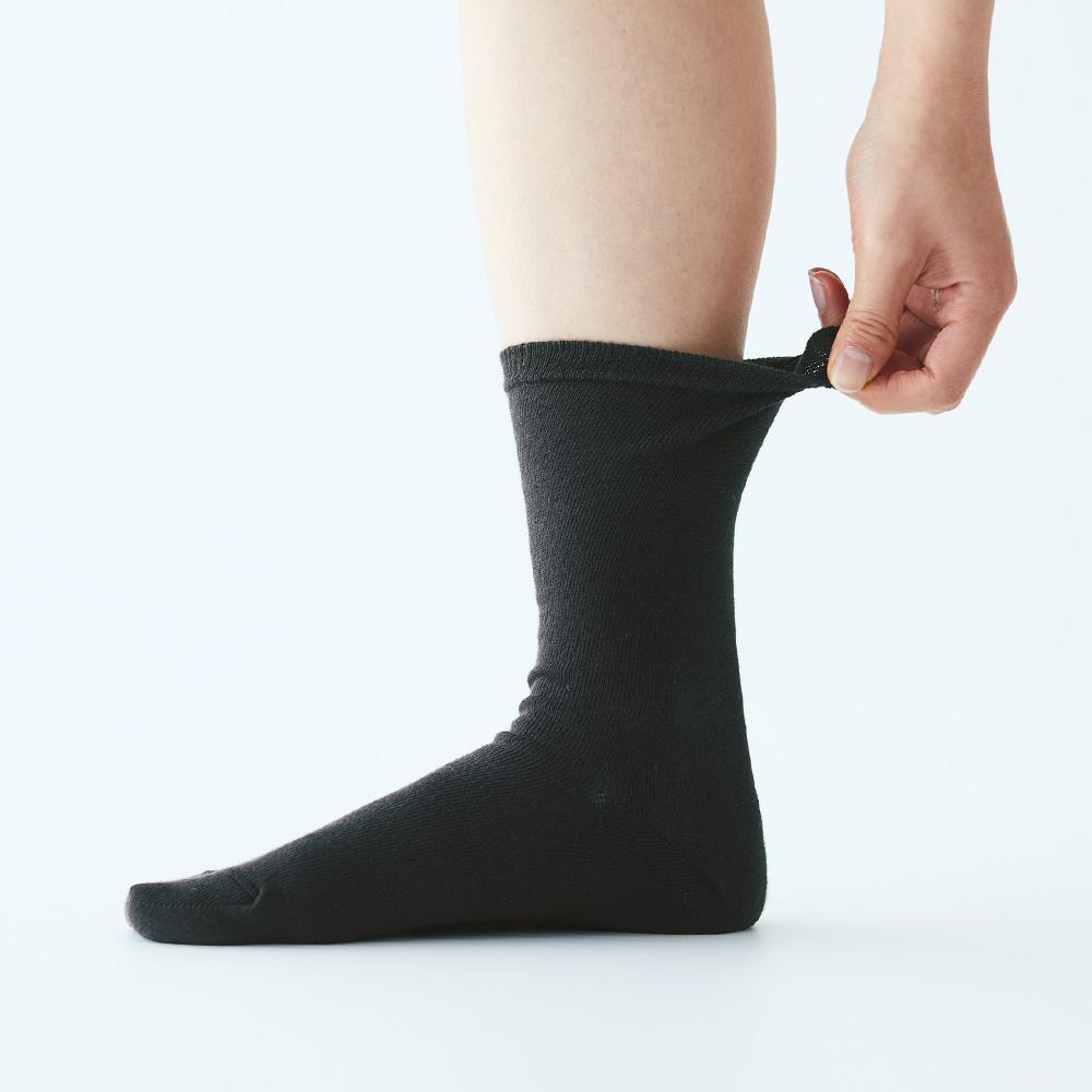無印良品の足なり直角靴下、6足