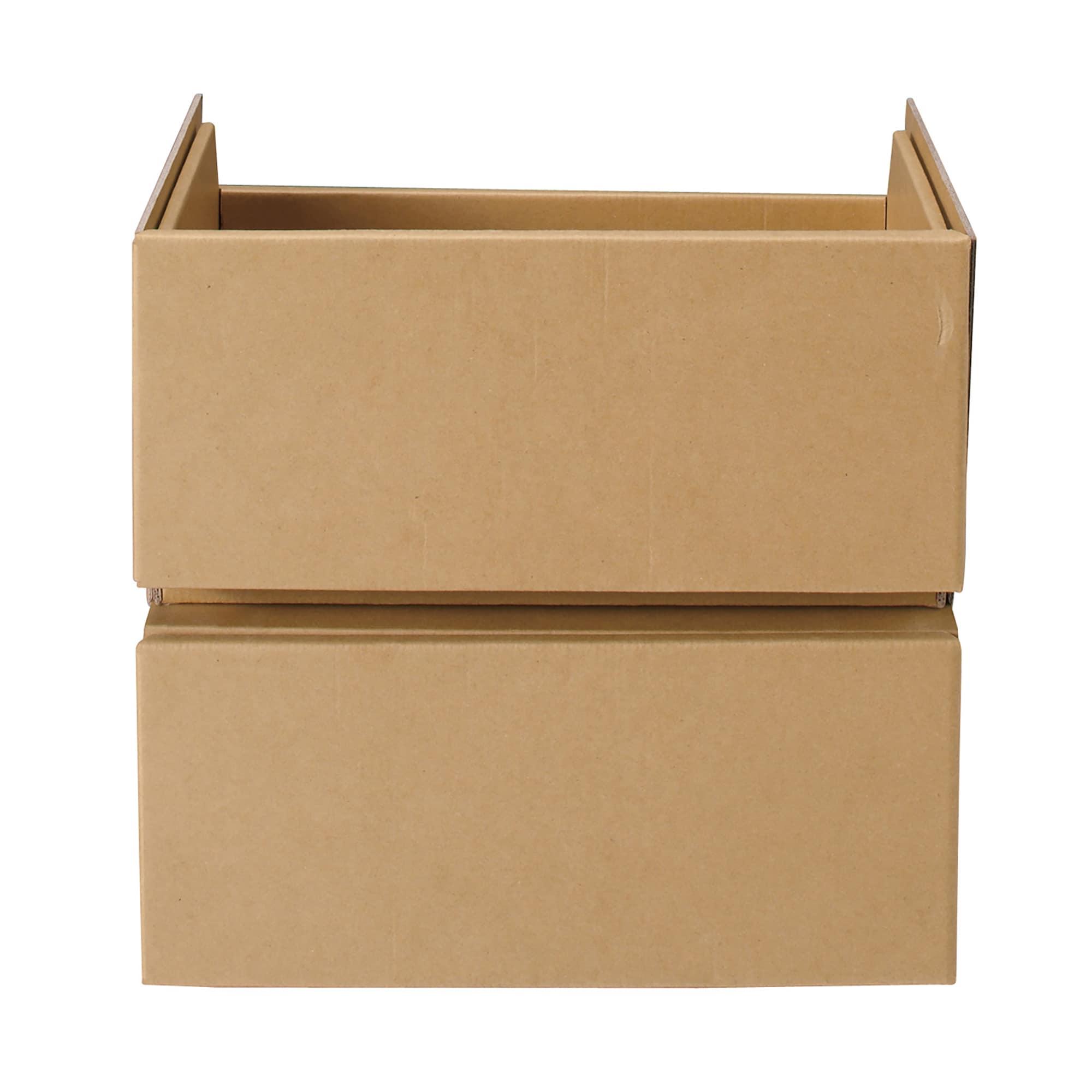 [무인양품] MUJI 골판지 서랍・2단(종이 펄프 보드 박스용) 일본공식스토어 상품