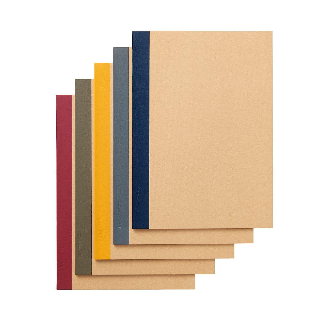 植林木ペーパー裏うつりしにくいノート5冊組 B5・30枚・6mm横 ...