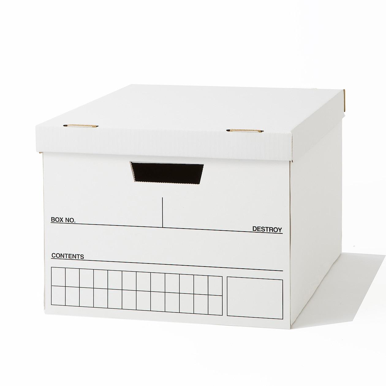 ダンボール書類保管箱 約幅34.5×奥行41×高さ26.5cm
