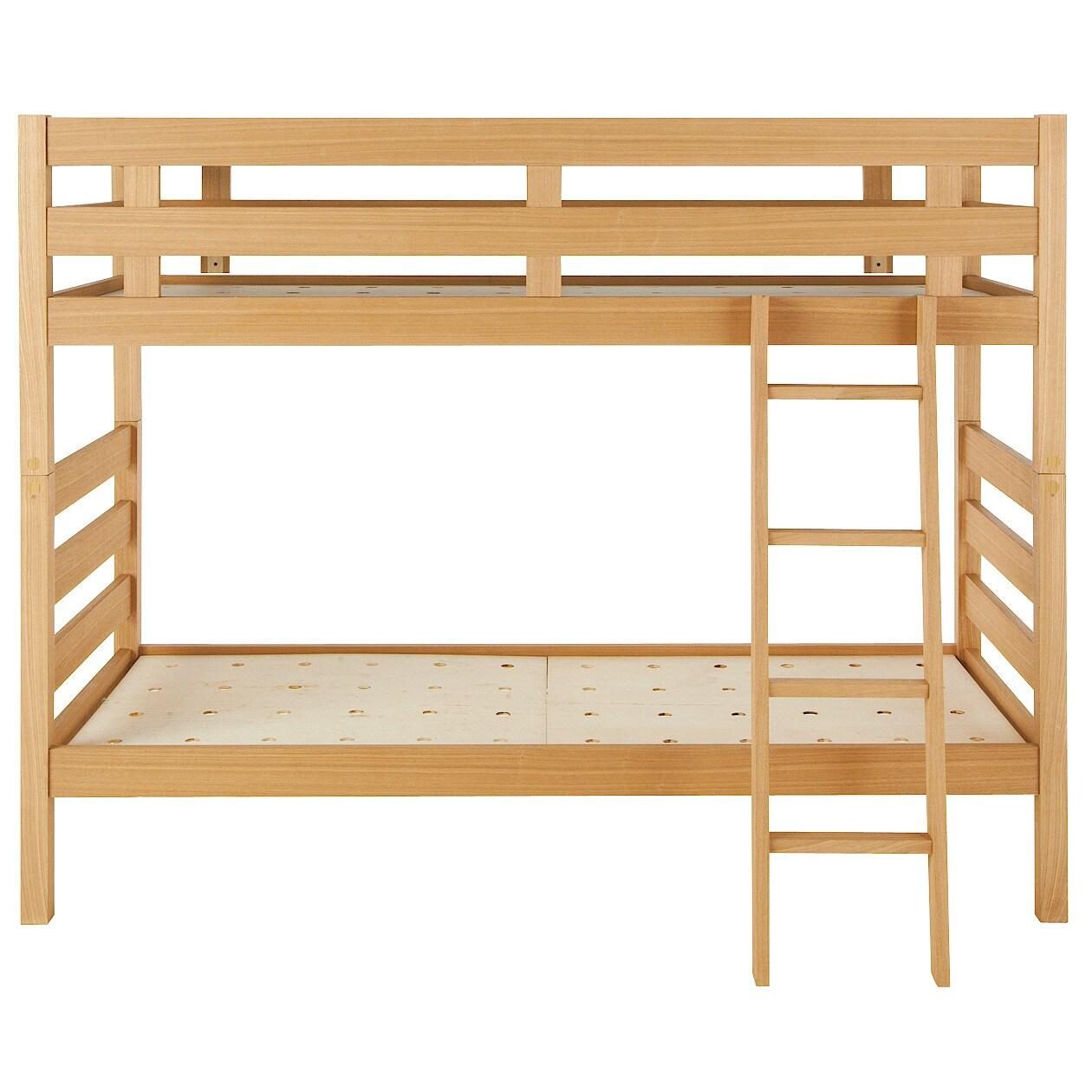 オーク材2段ベッド