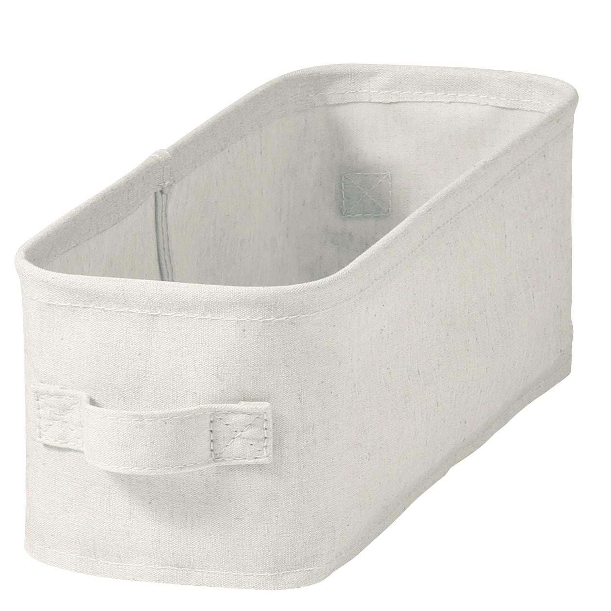 [무인양품] MUJI 폴리에스테르 면마혼방・소프트 박스 정리함・얕은형・하프 일본공식스토어 상품