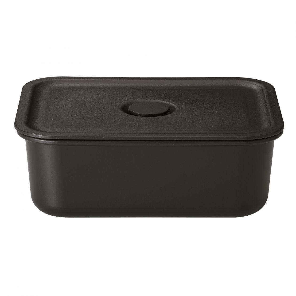 無印良品『ポリプロピレン保存容器になるバルブ付弁当箱・黒 レクタングラー』