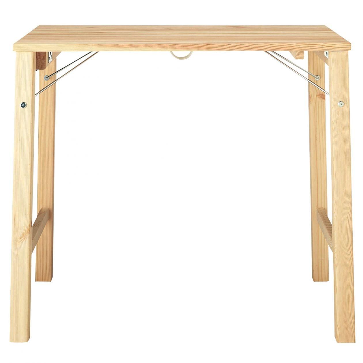 パイン材テーブル・折りたたみ式