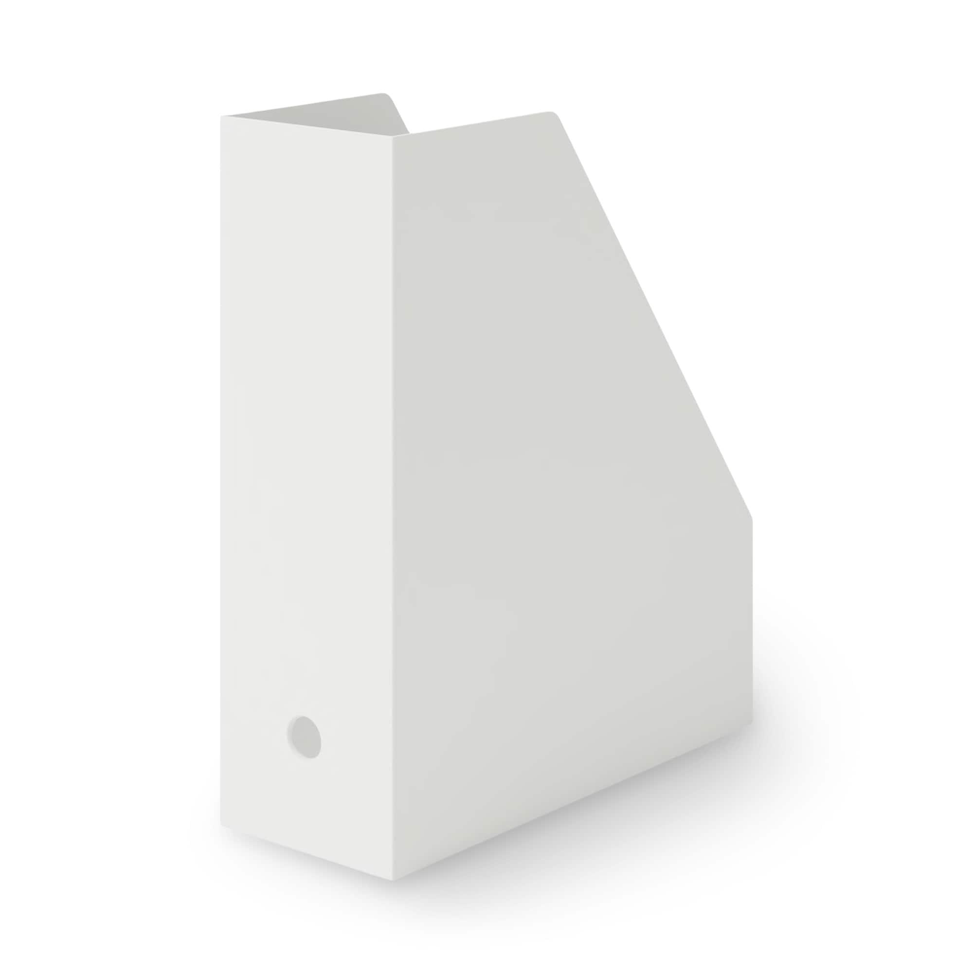 [무인양품] MUJI 폴리프로필렌 스탠드 파일 박스・A4용・화이트 그레이 일본공식스토어 상품
