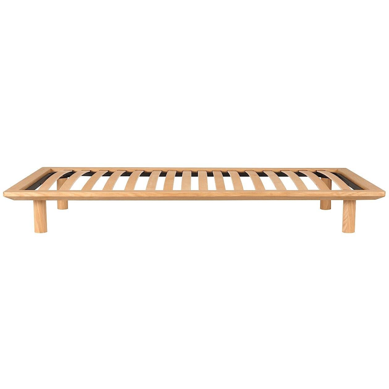 ベッドフレーム・スモール・オーク材 幅85.5×奥行202×高さ5.5cm