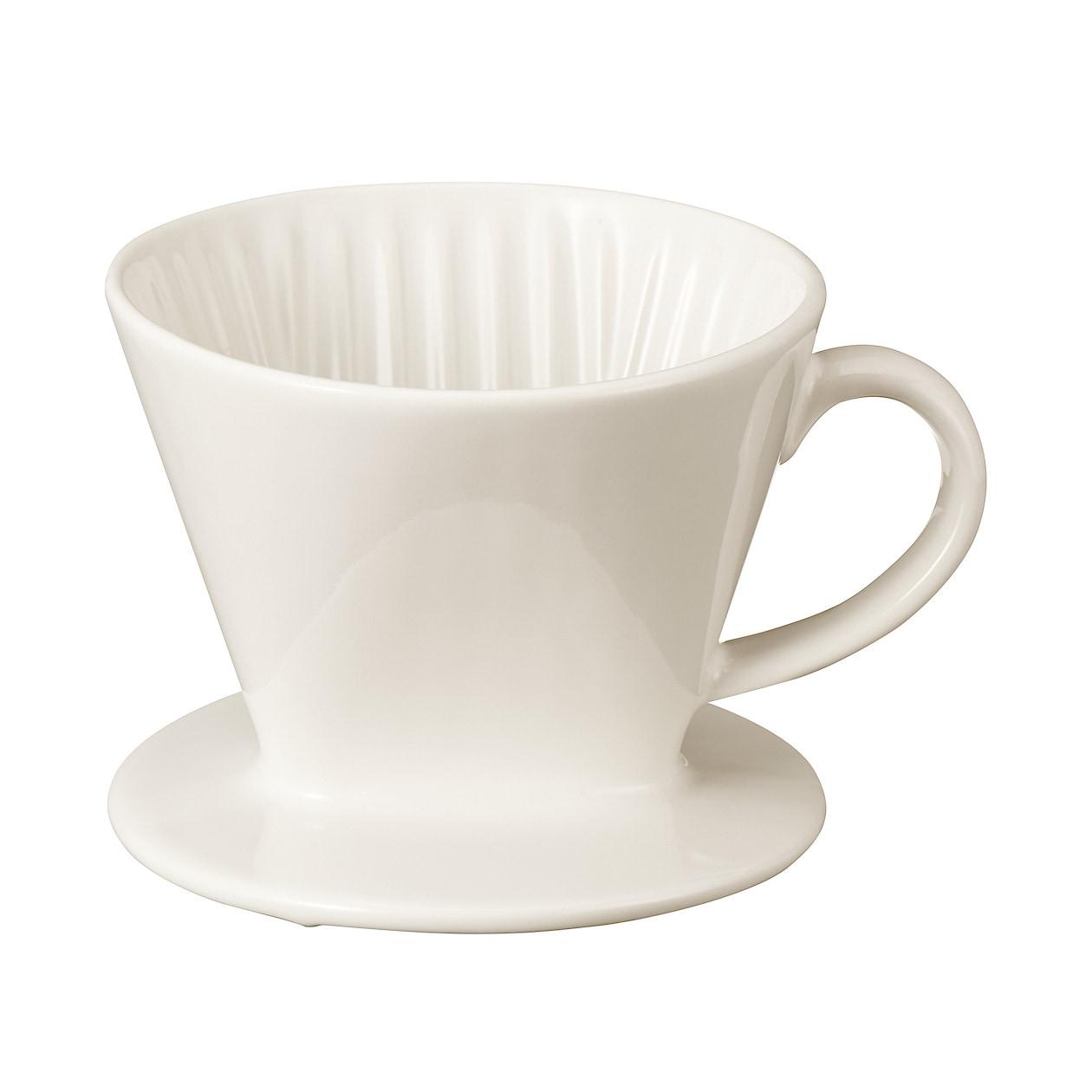 磁器ベージュドリッパー 1杯用・約直径11.5×高さ9.5cm