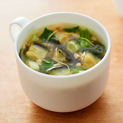 食べるスープ 揚げ茄子と豚肉の生姜スープ 4食