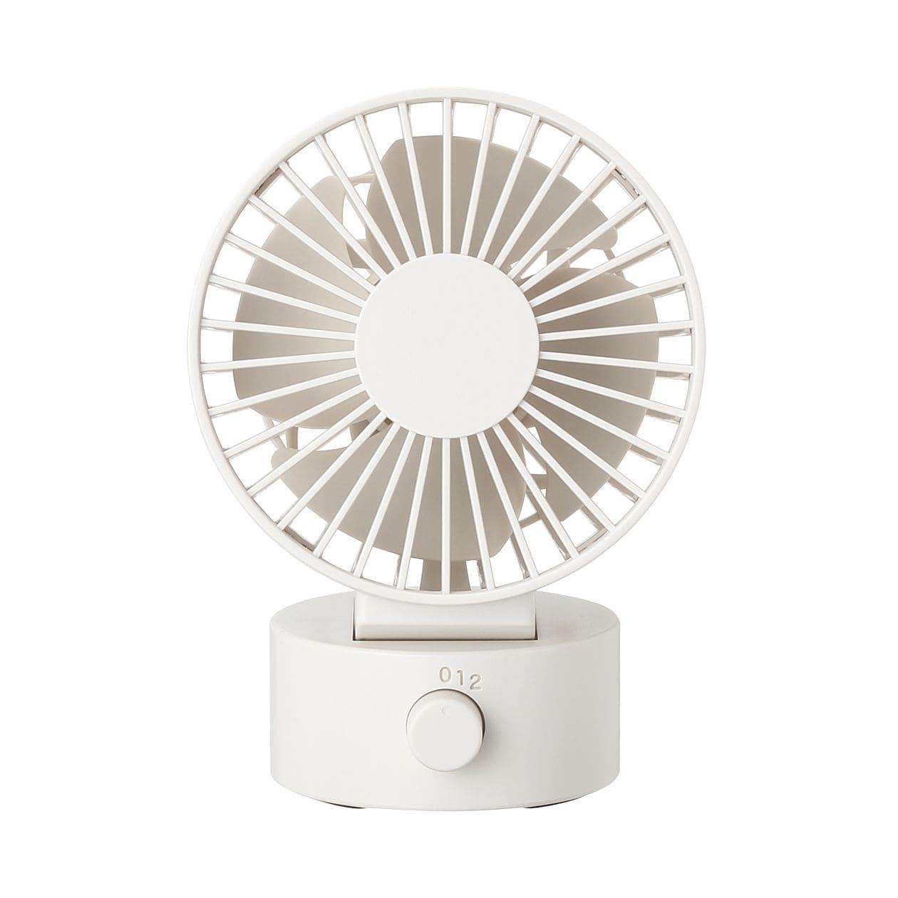 USBデスクファン(低騒音ファン) ホワイト/型番MJ‐9ZF013CZ03