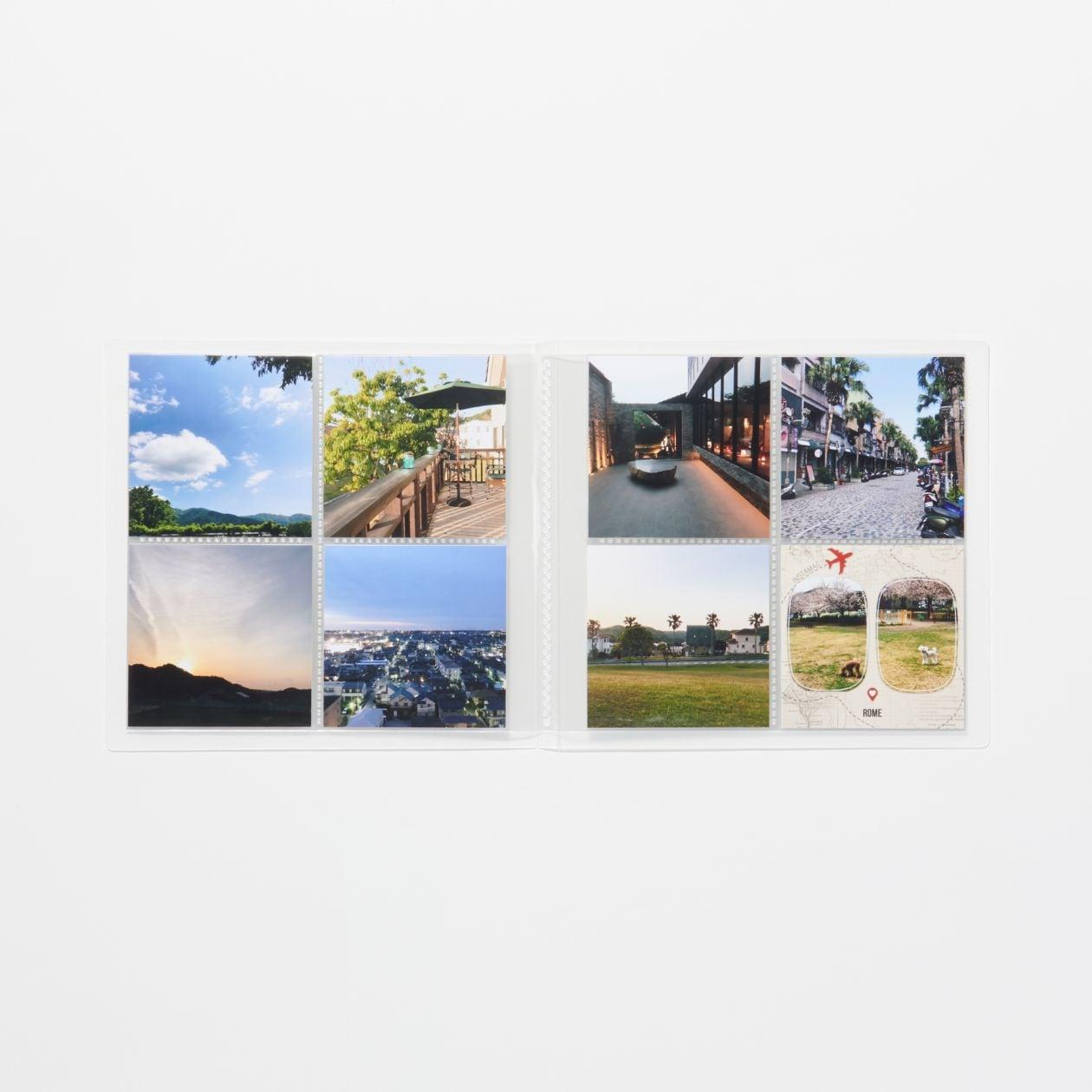 無印良品 ポリプロピレンアルバム 2段 スクエアサイズ