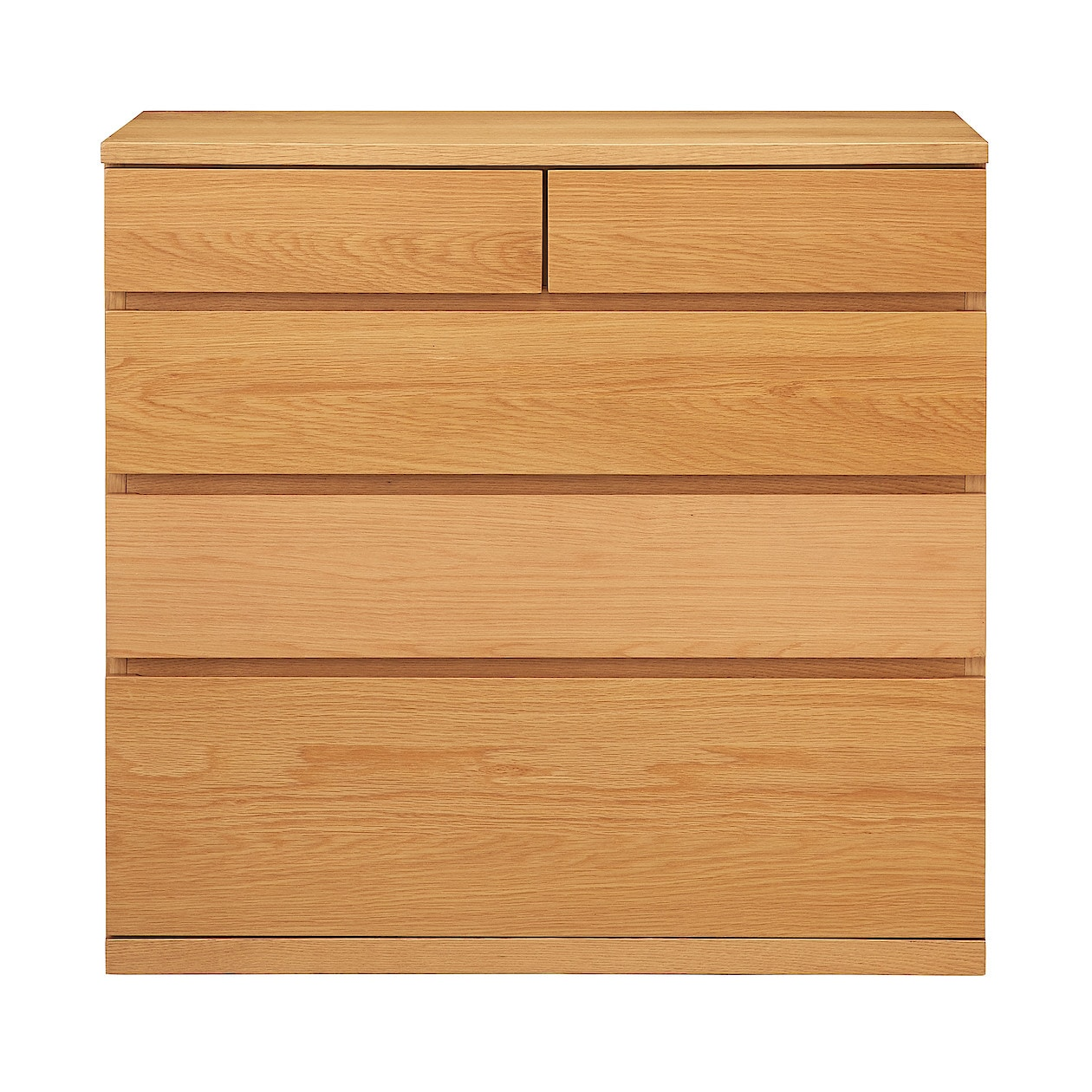 木製チェスト4段・オーク材