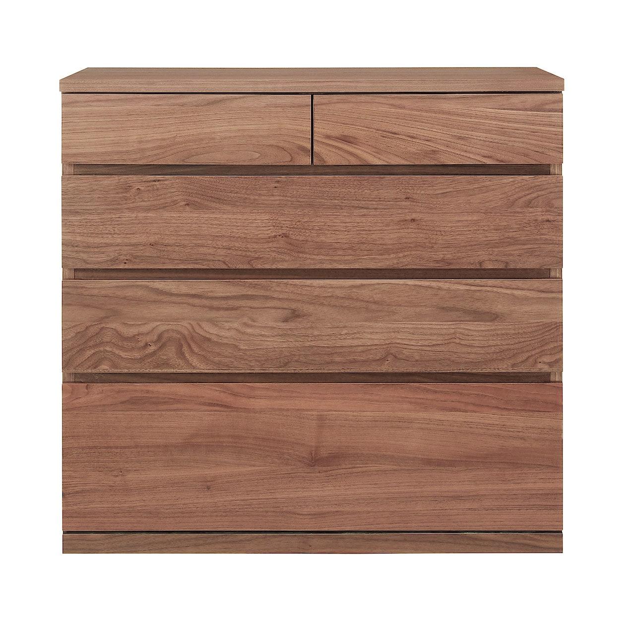 木製チェスト4段・ウォールナット材