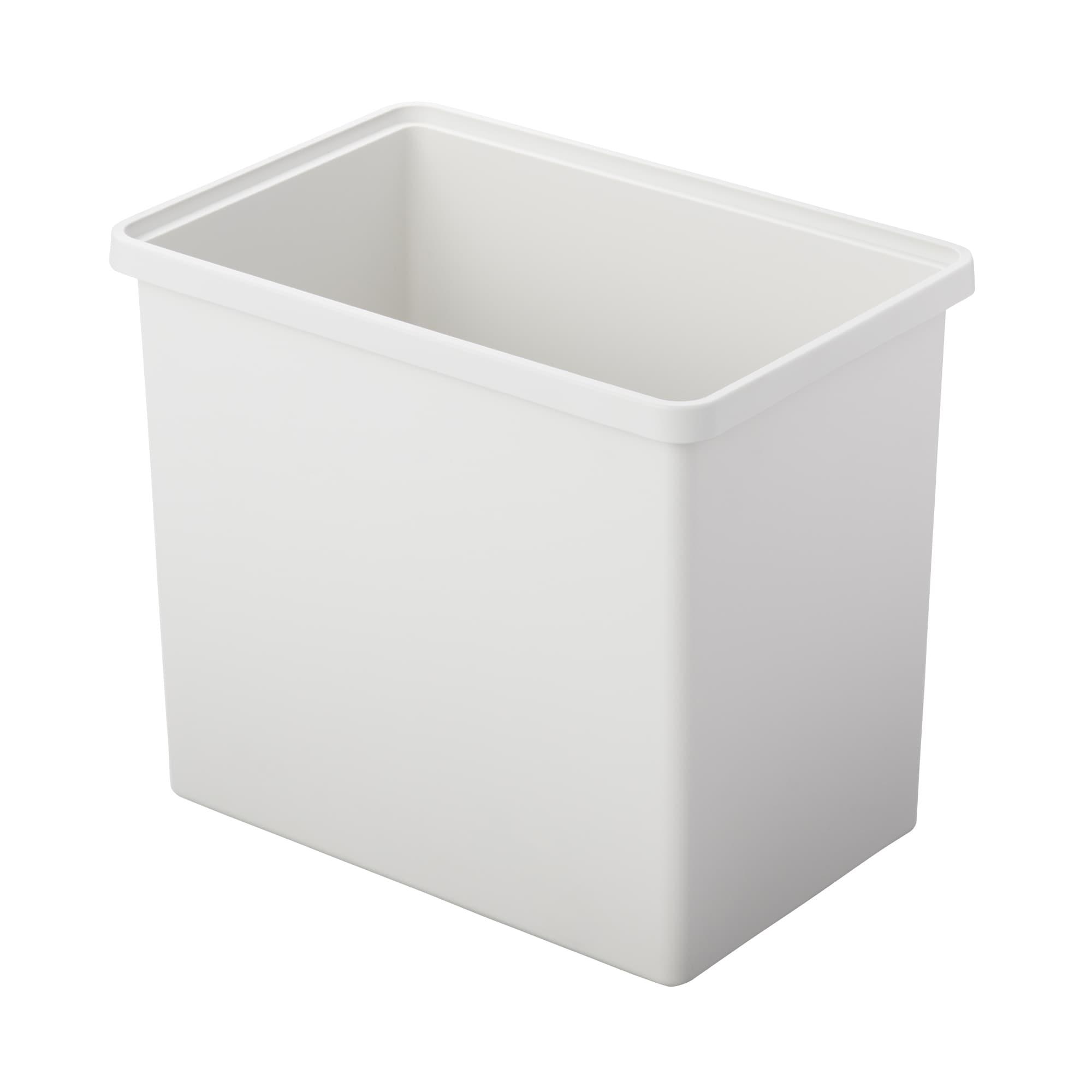 [무인양품] MUJI 폴리프로필렌 수납박스・깊은형・화이트 그레이 일본공식스토어 상품