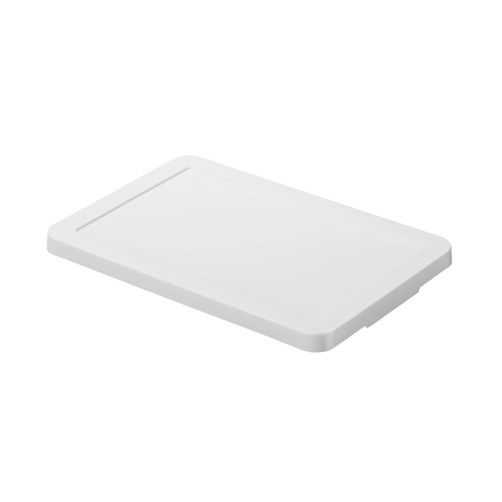 [무인양품] MUJI 폴리프로필렌 수납박스 뚜껑・화이트 그레이 일본공식스토어 상품