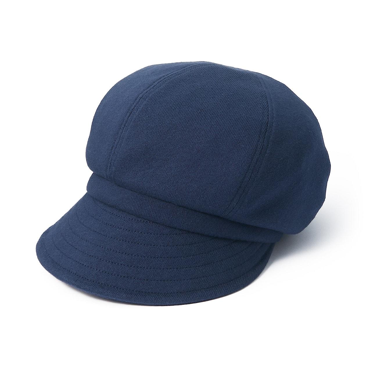 撥水 太番手つば広キャスケット 55~57.5cm・ネイビー | 帽子 ...