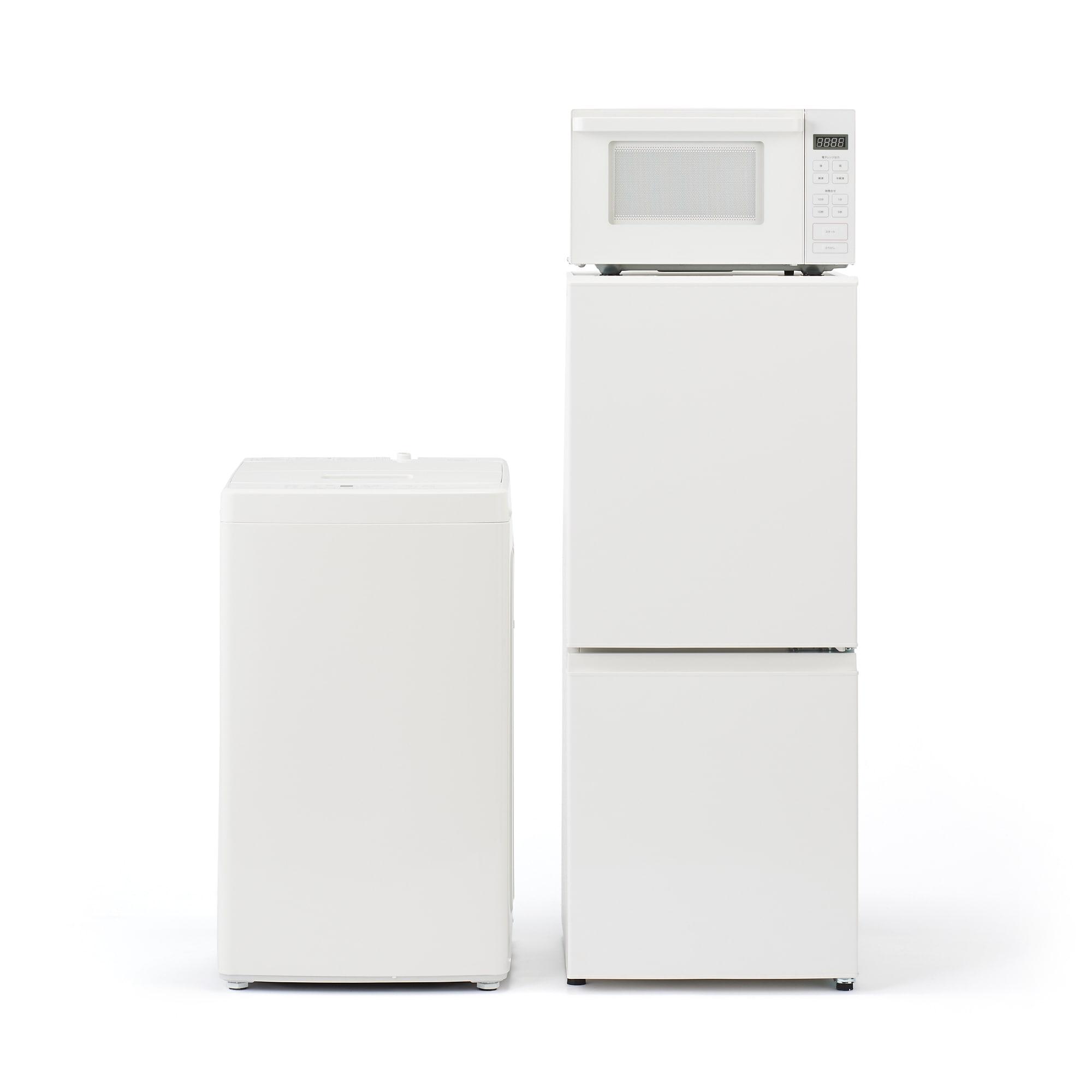 [무인양품] MUJI 가전 3종세트 냉장고 세탁기 전자레인지 MJ-R13A MJ-W50A 일본 공식스토어 상품