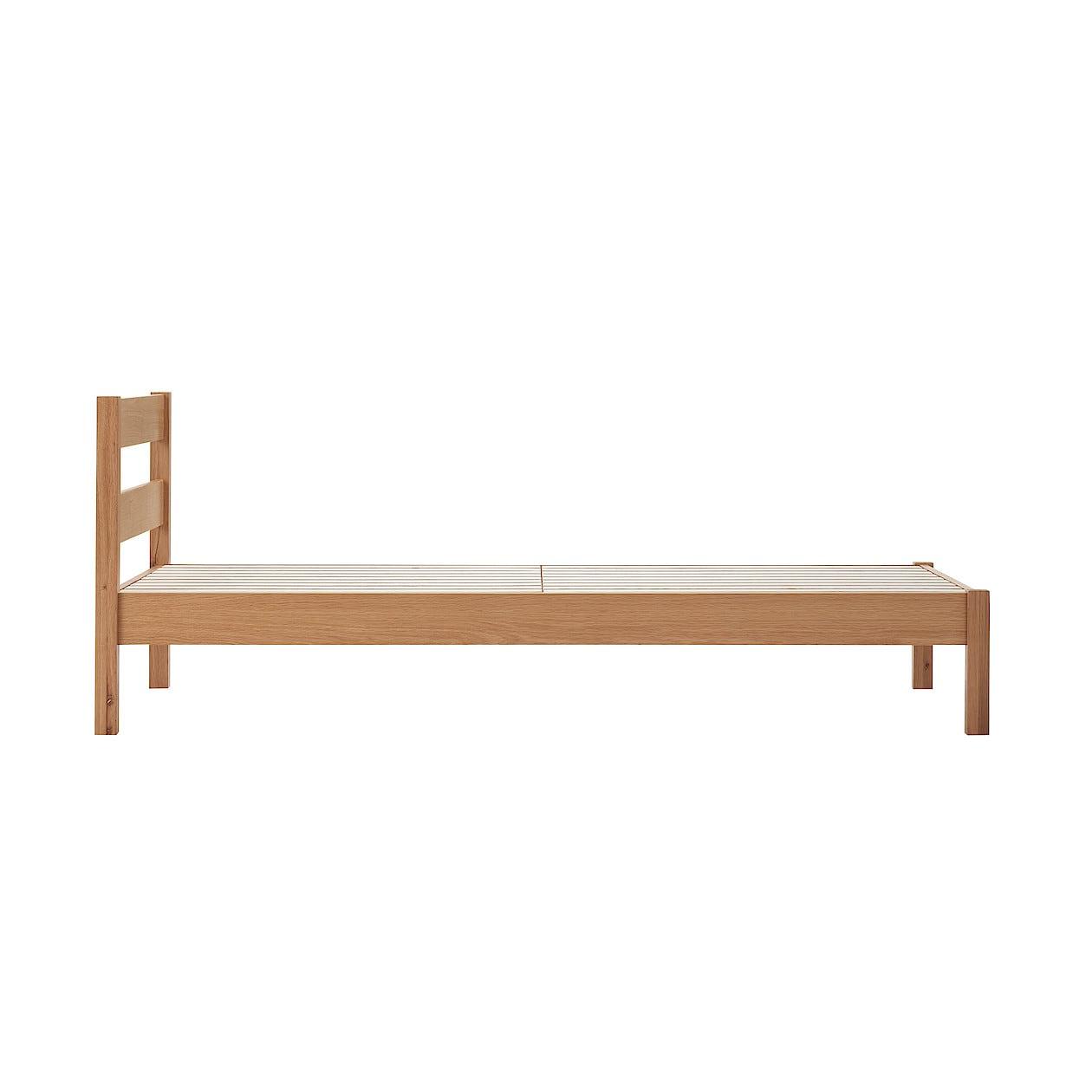 木製ベッド オーク材突板