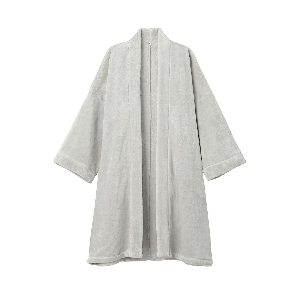 あたたかファイバー着る毛布かいまき 男女兼用ONE SIZE・ライトグレー