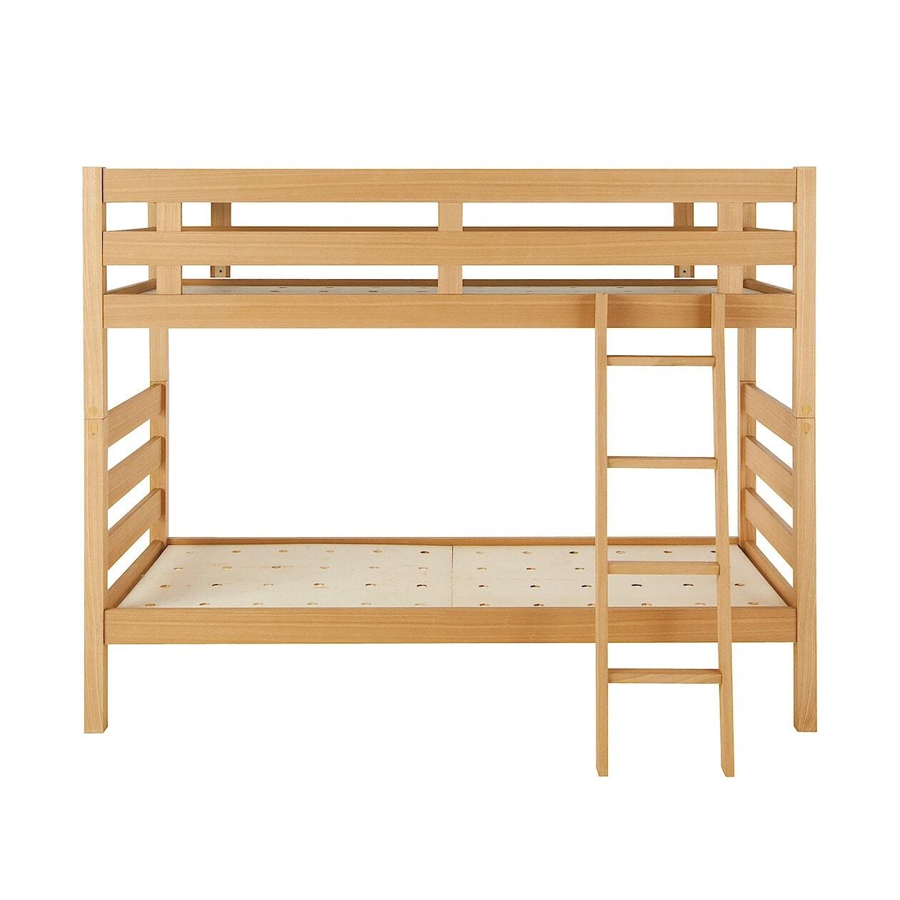 無印良品 木製2段ベッド オーク材突板