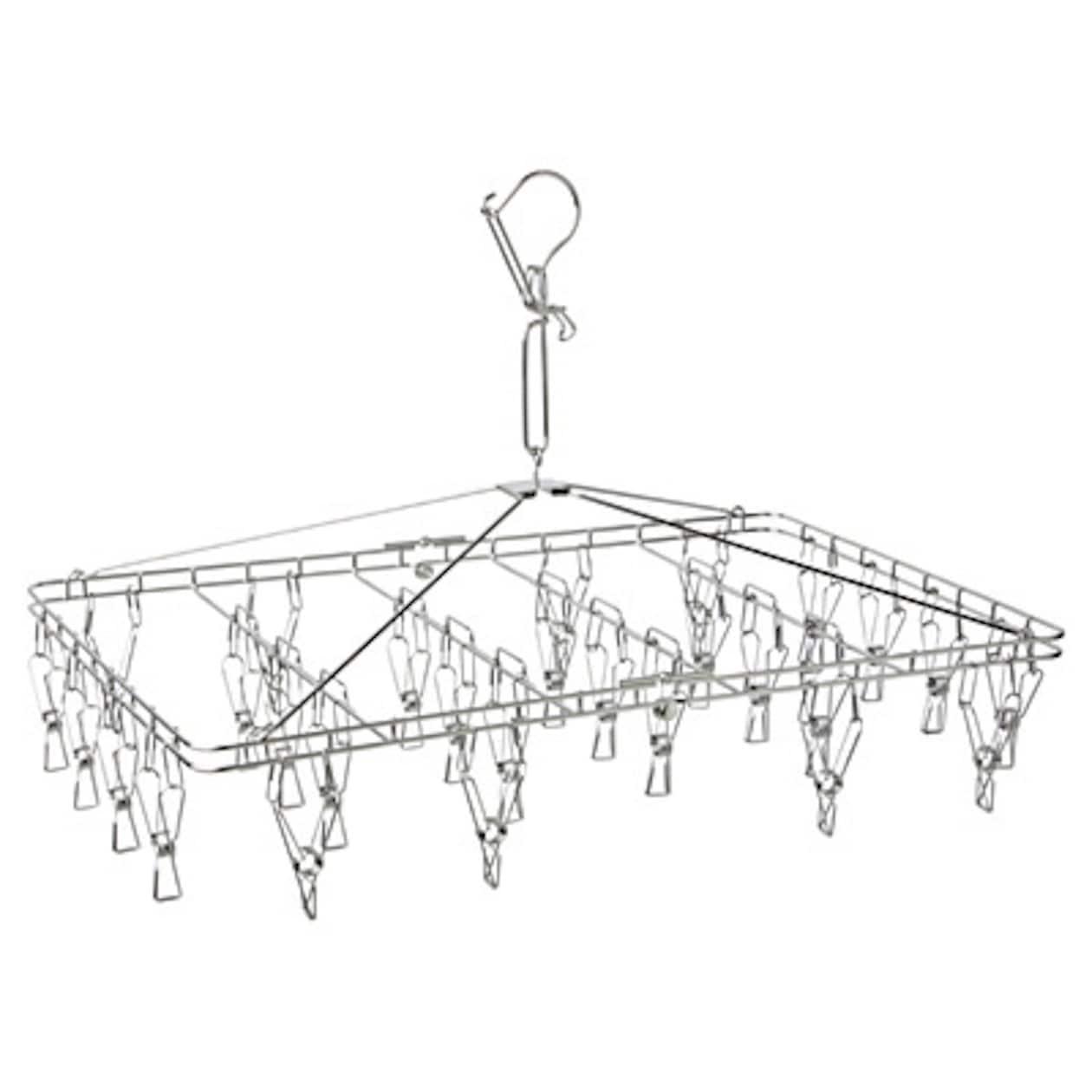 オールステンレス角型ハンガー・大 約56.5×35.5cm・ピンチ28個付