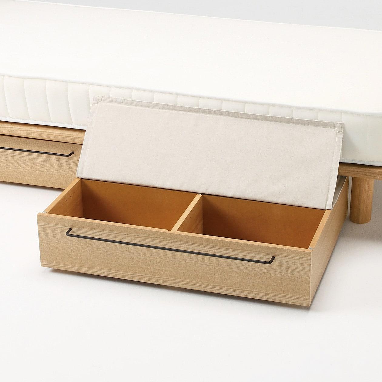 ポリエステル綿麻混・木製ベッドフレーム下収納用ふた