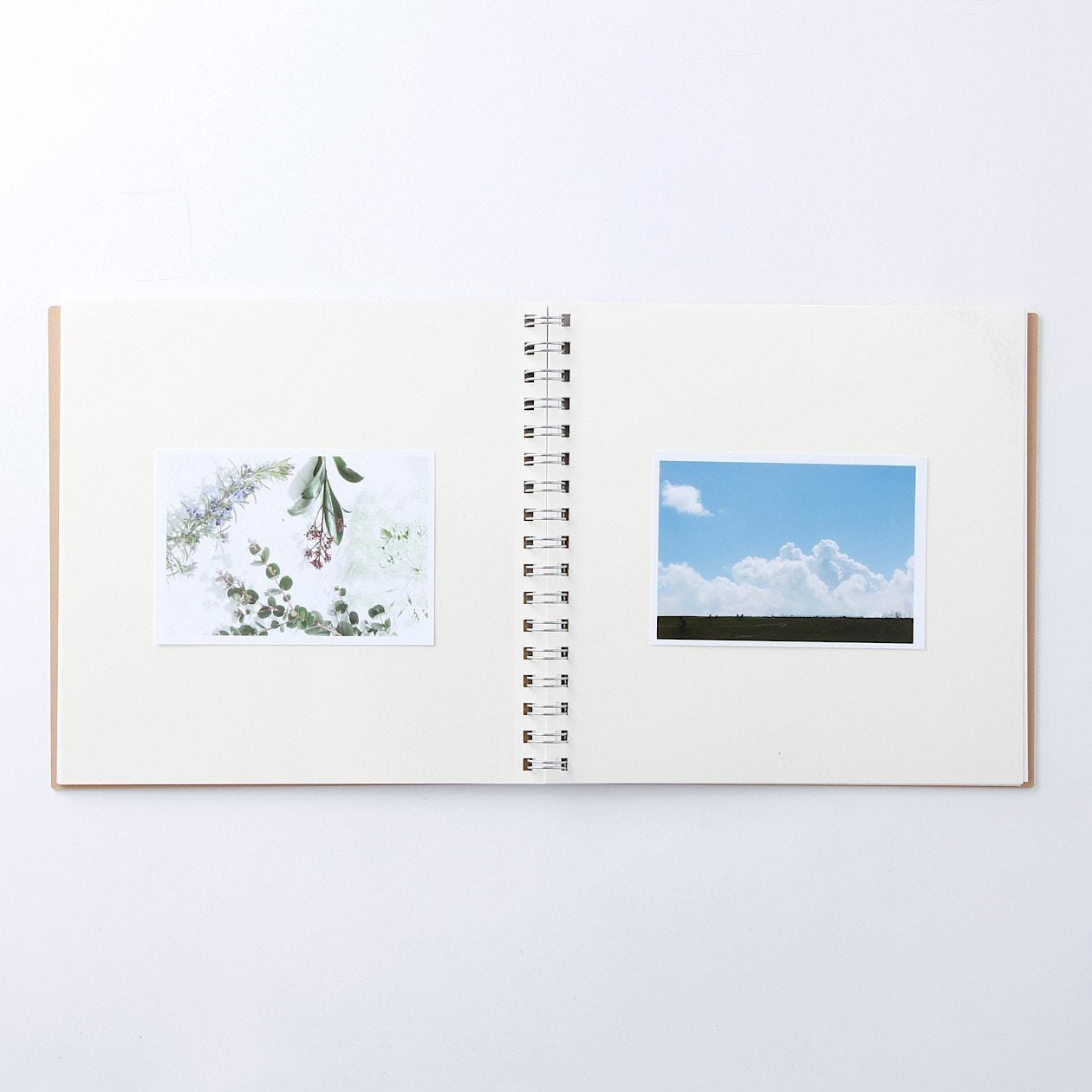 無印良品のスクラップブックの材料「台紙に書きこめる ダブルリングアルバム スクエア」