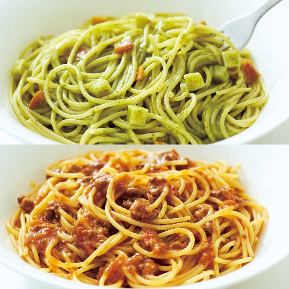 パスタ 定番トマトパスタが最速で。麺とソースが一緒にレンチンで完成