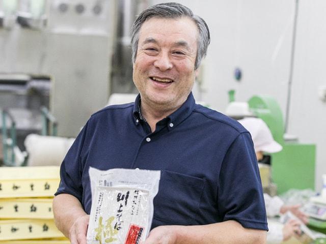 供給者画像:生産者名 信州生麺工房(有)伴野 会長 伴野澄朋さん