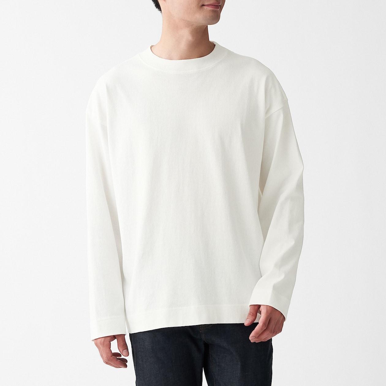 太番手天竺編み長袖Tシャツ