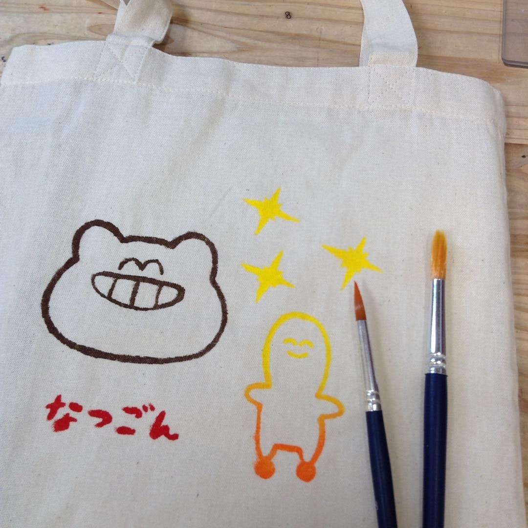 【トキハわさだタウン】シルクスクリーンでマイバッグにプリントしよう!
